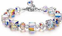 LUCKYYL Northern Lights Bracelet Crystal Jewelry,