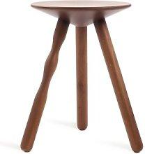 Luco 45cm Bar Stool Mobles 114 Colour: Walnut