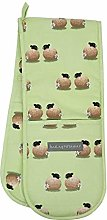 Lucy Pittaway Double Oven Gloves - Sheep & Daisy -