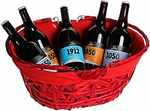 Ludi-Vin Oval Basket with Folding Handles