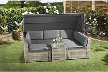 Ludwicka Garden Sofa with Cushions Sol 72 Outdoor