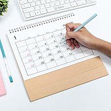 Luermeuk Desk Calendar, Desktop Standing Flip