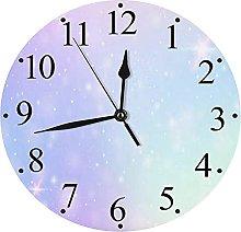 LUHUN Wall Clock Quiet Office Home Decor Clocks