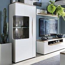 Lukasik 1 Door Low Display Cabinet Brayden Studio
