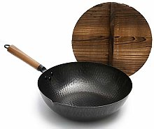 LULUDP Cooking Pots Pans Traditional Hand Hammered