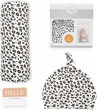 lulujo Baby Hat & Swaddle Blanket Set  Ultra Soft