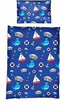 Lumaland Premium Sailor Kids Bedding Set for Boys