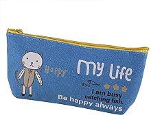 Lumanuby 1Canvas Happy animal pencil case for