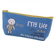 Lumanuby 1 Canvas Happy animal pencil case for
