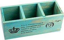 Lumanuby 1 Pcs Organiser Mesh Retro Solid Wood
