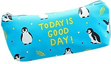 Lumanuby 1 x penguin pencil case made of PU