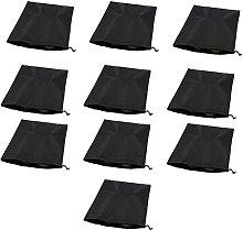 Lumanuby 10Pcs Travel Shoe Bags Drawstring Black