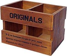 Lumanuby 1Pcs Wooden Pen Holder Organiser Storage