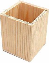 Lumanuby. 1Pcs Wooden Pen Holder Organiser Storage