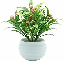 Lumanuby. Mini Fake Flower Pot Artificial Flowers