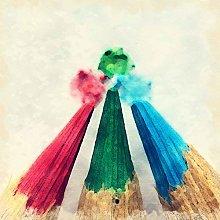 Lumartos, Coloured pencils Contemporary Home Decor