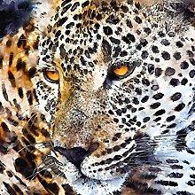 Lumartos, Leopard Contemporary Home Decor Wall Art