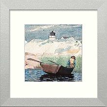 Lumartos, Vintage Boy in Boat Contemporary Home