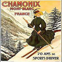 Lumartos, Vintage Chamonix Poster Contemporary