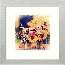 Lumartos, Vintage Flowers On Bench Contemporary