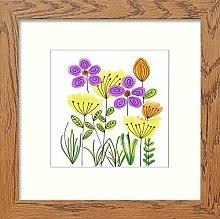 Lumartos, Vintage Graphic Flowers Contemporary