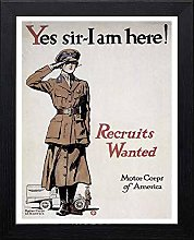 Lumartos, Vintage Poster Yes Sir I Am Here