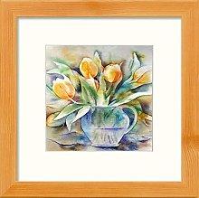 Lumartos, Yellow Tulips Contemporary Home Decor