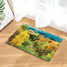 Lumengqi Autumn scenery shower curtain watercolor