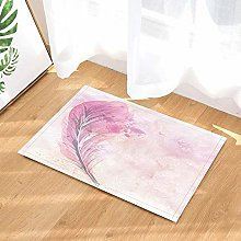 Lumengqi Cartoon shower curtain pink feather Home