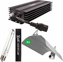 LUMII BLACK Electronic 600w Grow Light Kit - x2