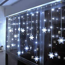 Luminous curtain snowflake, 4m bright garlands 100