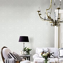 Luminous Geometric 10m x 52cm Wallpaper Roll East
