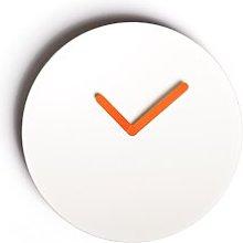 Luna 36cm Silent Wall Clock JAVORINA Colour: