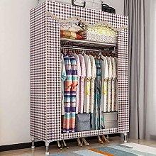 LUNAH Folding Fabric Canvas Wardrobe,single Double