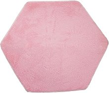 LUNAH Hexagon Coral Rug Mat, Princess Tents Rug