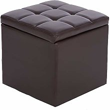 LUNAH Storage Stool European Style Leisure Leather
