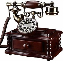 LUNAH Vintage Retro Antique Phone Wired Corded