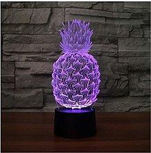 lunaoo 3D Pineapple Night Light for Kids Boys