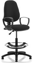 Lunar 1 Lever Draughtsman Chair (Fixed Arms),