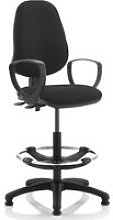 Lunar 2 Lever Draughtsman Chair (Fixed Arms),