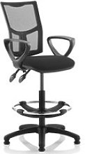 Lunar 2 Lever Mesh Back Draughtsman Chair (Fixed