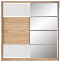 Lunar 2 Sliding Door Wardrobe With Spot Lights
