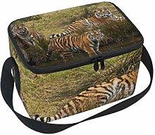 Lunch Bag 3 Siberian Tiger Cubs Look Water Cooler