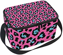 Lunch Bag Abstract Colorful Leopard Print Cooler