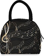 Lunch Bag, Abstract Music Note Insulated Lunch Box
