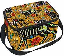 Lunch Bag Animal Cat Sugar Skull Cooler for Picnic
