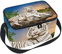 Lunch Bag Animal Tiger Rest Stone Cooler for