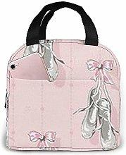 Lunch Bag - Ballet Shoes Tote Handbag Lunchbox