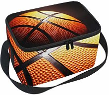 Lunch Bag Basketball Black Background Cooler for