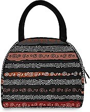 Lunch Bag, Boho African Pattern Insulated Lunch